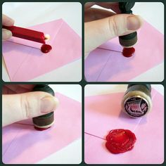 Raiding the button jar: How to make your own wax seal, for invitations, place cards, and other paper-crafted pieces of a wedding