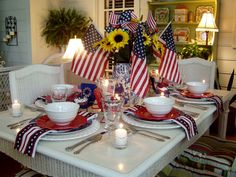 fourth of july table setting ideas - Google Search