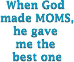love you, Mom