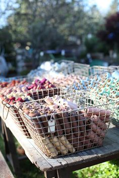 thread spools, goodies, dreamy whites, buckets, dreami white, ateli de, wire baskets, de campagn, atelier