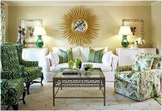 blue/green living room