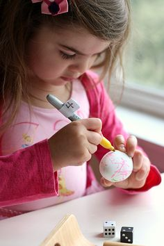 Color by number ---Easter egg decorating game. Could use this concept in lots of different ways!