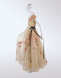 Dress, Jeanne Lanvin (French, 1867–1946) for the House of Lanvin (French, founded 1889): 1937, French, cotton, silk.