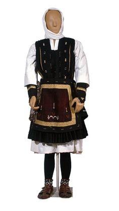 Woman's festive costume, made by Sarakatsan. Sofia region of Bulgaria, early 20th century.