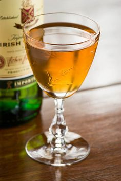 The Dubliner: whiskey, sweet vermouth, Grand Marnier, orange bitters
