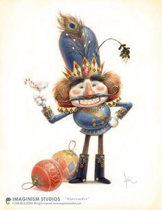 Nutcracker bobbi chiu, digit art, illustrations, charact design, nutcrackers, keiacedera, kei acedera, artillustr card, christma