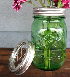 DIY Mason Jar Vase Lids