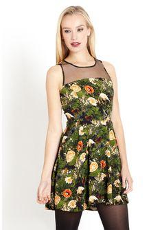 JACK Tomio Sleeveless Dress with Sheer Back
