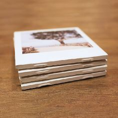 Learn how to make your own Polaroid photo coaster using Instagram prints from PostalPix! It's an inexpensive gift idea that's easy to make.