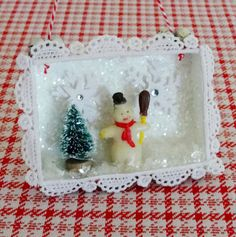 Winter Wonderland Frosty the Snowman Diorama