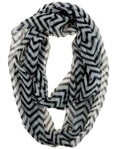 Soft Chevron Sheer Infinity Scarf in Contrasting Colors (Black/White) Cotton Cantina,http://www.amazon.com/dp/B00CIBCJ6M/ref=cm_sw_r_pi_dp_xRAasb1A4DZZMD1M