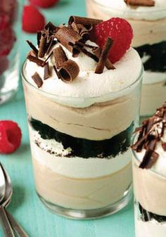 These Easy Tiramisu Trifles will take you less than 20 minutes to create. Satisfy your sweet tooth tonight with this delicious dessert!