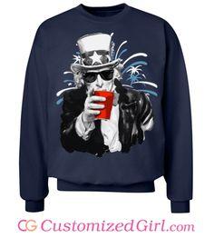 Uncle Sam Fireworks custom #4thofJuly sweatshirt