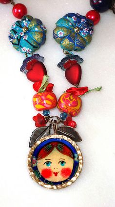 Matryoshka Russian Nesting Doll Necklace