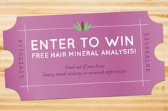 Enter to win a FREE Hair Mineral Analysis