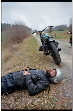 a short break after a long ride with your motorcycle e.g. cafe racer or your chopper