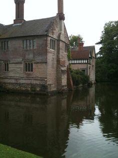 Reflections at Baddesley Clinton of the moated manor. Via @sarahwhiuk