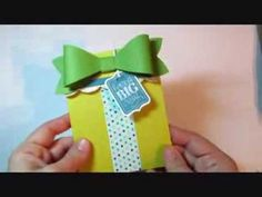 Stampin' Up! Gift Bow Die Gift Card Holder