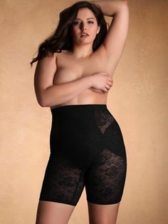 Lace Mesh High Waist Long Line Panty Shapewear