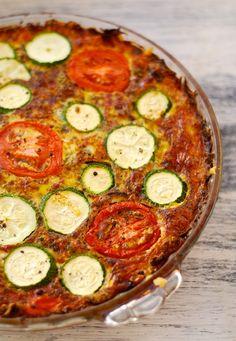 Vegetarian Quiche in a Golden Zucchini & Carrot Crust