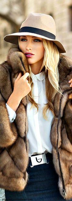 fur, coat, hat