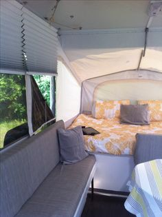 Pop up camper makeover and renovation. I think we are getting a pop up. This is so cute!