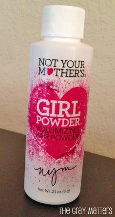 Hair Powder, like Dry Shampoo, but less stinky