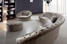 cool sofa.....wrap around sectional couch chair ottoman