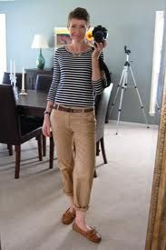 Model Blue Khaki Pants Outfit For Women  Spring Outfit Ideas