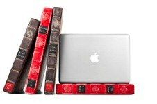 Clever leather Mac book cover by Bookbook @ amazon.....love it!