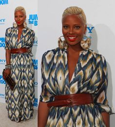 Eva looks gorgeous! (via Look of the Day: Eva Marcille At Jumping The Broom Premiere)