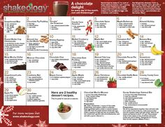 Click here to print and hang the 30 days of Christmas Shakeology Recipe Calendar on your fridge