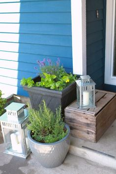 Add a little flair to your front porch for more curb appeal!