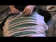 DIY: T-Shirt Cutting and Weaving - YouTube
