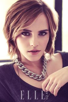 Emma Watson - @Brenda Franklin Franklin Myers Perszyk Maddox I think this Emma for the new female character! Shorter hair, edgier looking.