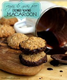 Coconut Almond Macaroon dipped in chocolate