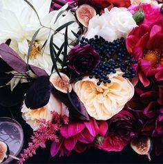 pinks, plums, navy,