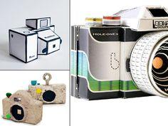 papercraft pinhole cameras