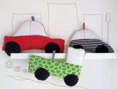 Baby toys cars, soft toys, plushes. Stuffed cars great toys for kids and decor. Truck, towncar and mini car.