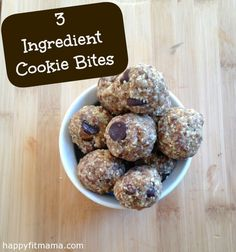 3 ingredient cookie bites
