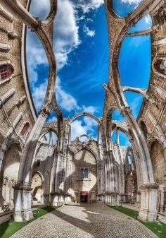 Carmo Convent - Lisbon, Portugal architectur, amaz citi, lisbon portugal, carmo convent, beauti, ruins, travel, build, place