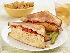 Mac and Cheese Grilled Cheese with Bacon Two Ways Recipe : Jeff Mauro : Food Network - FoodNetwork.com