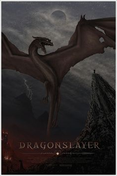 the amazingly awesome Mondo poster for Dragonslayer we got at last night's screening.  It's gorgeous!!!! film, movi poster, rock posters, jc richard, art, dragonslay poster, 1980s movi, 80s fantasi, mondo poster