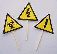 12 Hazard Scientist Cupcake toppers PRINTED on Etsy, $10.00