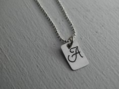 Lovely little initial necklace in sterling silver - order one or many initials to make it a couples, or mothers, or grandmothers necklace or for your bridesmaids! by JoDeneMoneuseJewelry