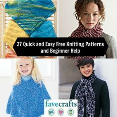 27 Quick and Easy Free Knitting Patterns and Beginner Help