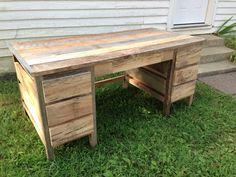 Reclaimed Barnwood desk by ReBarnCHF on Etsy