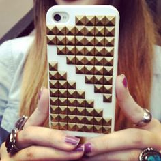 Studded iPhone cases ftw #threadsence #fashion