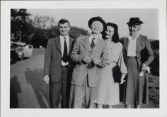 (L to R) Paul Maynard, Charles Prendergast, Antoinette Maynard, Eugénie Prendergast, March 20, 1946 at Williams College Museum of Art, Prendergast Archive and Study Center