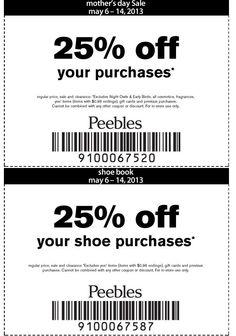 Peebles coupons 40